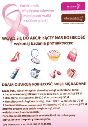 """Kampanie społeczne wpływają na wzrost lojalności klientki do marki . Celem cyklicznej akcji """"Łączy nas kobiecość"""" prowadzonej przez kliniki Salve Medica jest inspirowanie kobiet do systematycznego dbania o zdrowie piersi."""